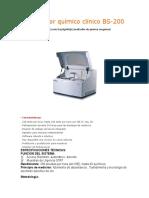 Analizador Químico Clínico BS-200