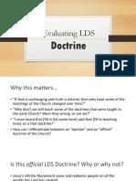 Evaluating Doctrine 2016