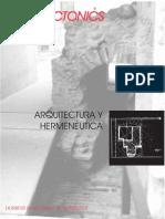 [Architecture Ebook] Arquitectonics 4 - Arquitectura y hermeneutica (Spa-Fr-Ita-Eng).pdf