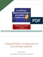 Competitividad y Recuperación de La Economía Española-UCLM %2812!03!2013%29