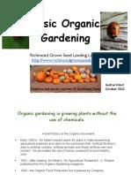 basic organic gardening class