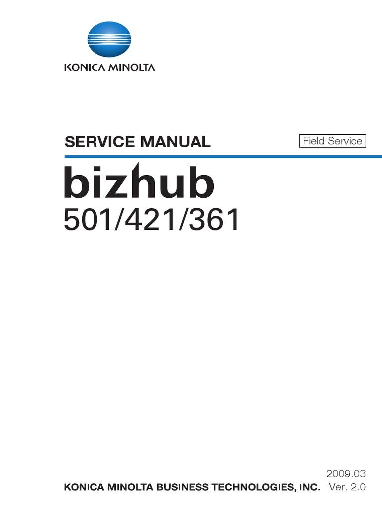 konica minolta bizhub 361 421 501 service manual pdf ac power rh es scribd com Generac 6001 LP5500 6 00 1 Year