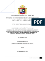 1ra Informe de Investigación Formativa