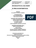 M2-PA10 Plan de Area de Matematica