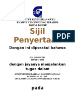 sijil penyertaan KURSUS