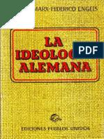 Marx y Engels - La Ideología Alemana (WRoces)