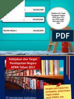 bijakan dan target pendapatan negara APBN  tahun 2017