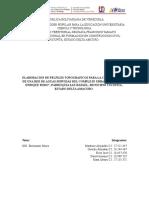 FASE I Proyecto de Aguas Servidas, PNF en Construccion Civil