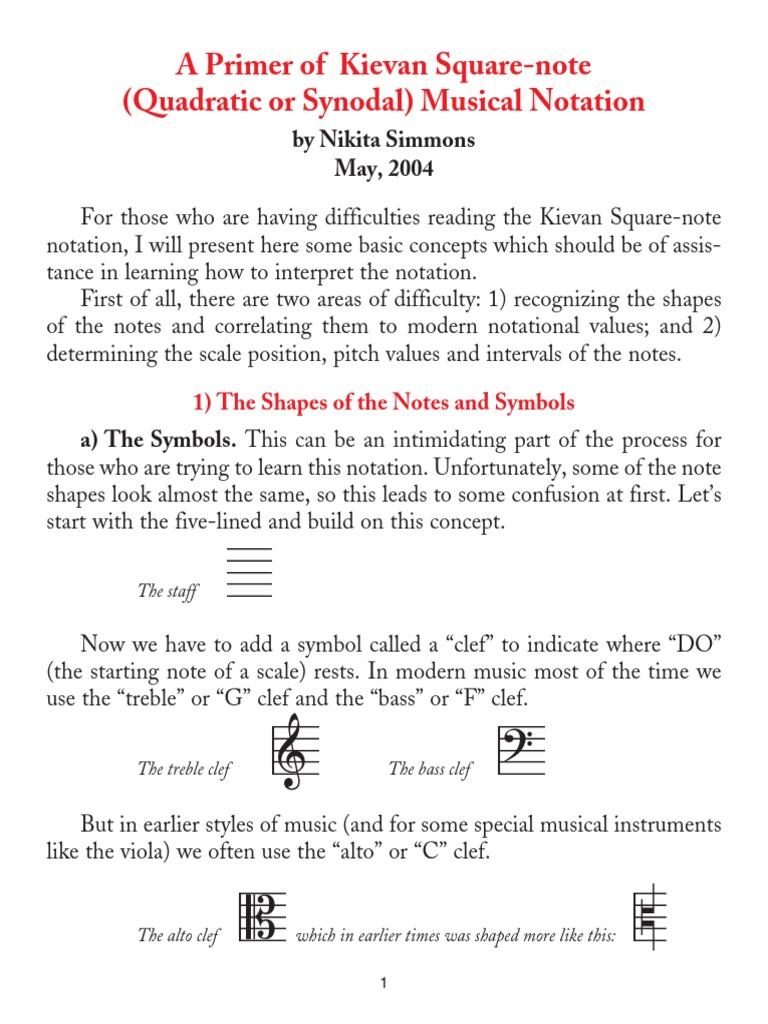 Kievan Notation | Clef | Musical Notation
