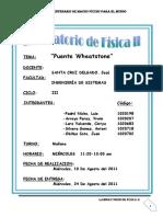 LABORATORIO PUENTE DE WEASTONE