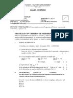 EXAMEN SUPLETORIO de Matemática Superior1