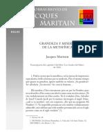 Maritain, Jacques - 01 - Grandeza y Miseria de La Metafísica