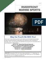 Riverfront Marine Sports July 2017 Newsletter