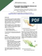 Mapas de Precipitación Para Diferentes Periodos de Retorno y Duración