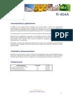 Ficha Tecnica R404A