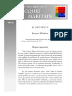 Maritain, Jacques - 15 - El Existente