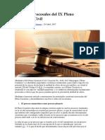 Aspectos Procesales Del IX Pleno Casatorio Civil