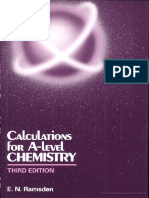 Calculations for a-level Chemistry by E.N.ramsden