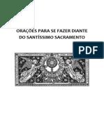 Oracoes Santissimo Sacramento