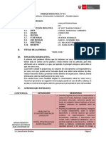 01 Unidad Didactica - 1° Secundaria - CTA