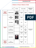 List of Prime Ministers & Finance Ministers of India by AffairsCloud.pdf