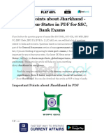 Major Points About Jharkhand Know Your States in PDF