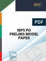 Ibps Po Prelims Model Paper