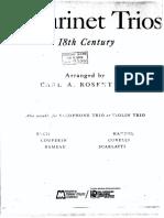 Carla a. Rosenthal - Clarinet Trios 18th Century
