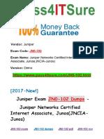 New Pass4itsure Juniper JN0-102 Dumps PDF - Juniper Networks