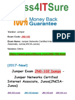 New Pass4itsure Juniper JN0-102 Dumps PDF - Juniper Networks Certified Internet Associate, Junos(JNCIA-Junos)