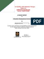 Project Sample- Hospital Management System (Smu)