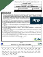 Ibfc 2014 Tre Am Tecnico Judiciario Area Administrativa Prova