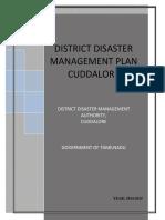 DISTRICT DISASTER MANAGEMENT PLAN CUDDALORE