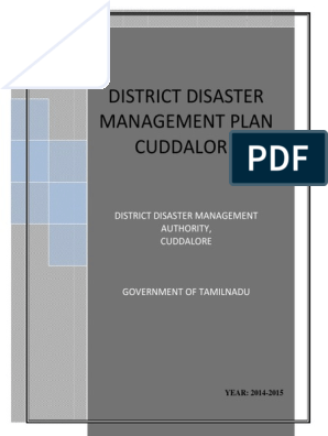 DISTRICT DISASTER MANAGEMENT PLAN CUDDALORE | Flood