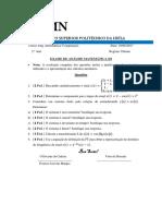 EXAME DE ANÁLISE MATEMÁTICA III
