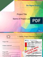 Six Sigma Project Presentation Template