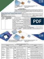 Guía de Actividades y Rúbrica de Evaluación Experimentación Grupal