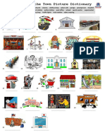 Places in the Town Picture Dictionary