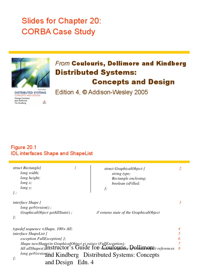 4 Ed Chapter Corba Slides Common Object Request Broker Architecture Computer Data Free 30 Day Trial Scribd