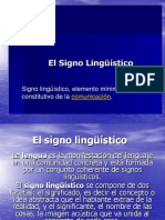 Sign o Linguistic o