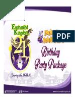 EK Birthday Party Packages