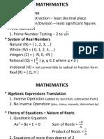 Mathematics 1