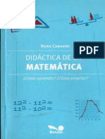 135777328 Didactica de La Matematica Nora Cabanne