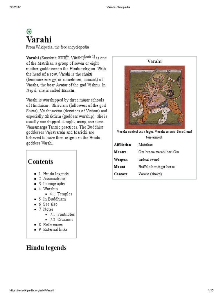 Varahi   Gender And Hinduism   Hindu Behaviour And Experience
