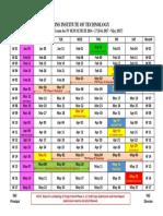 Calendar IV SEM Mtech