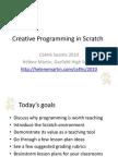 Helene Martin - CS4HS 2010 - Creative Programming in Scratch