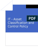 4. IT Policies-Asset Classification and Control Policy