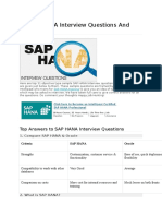 Op SAP HANA Interview Questions and Answers