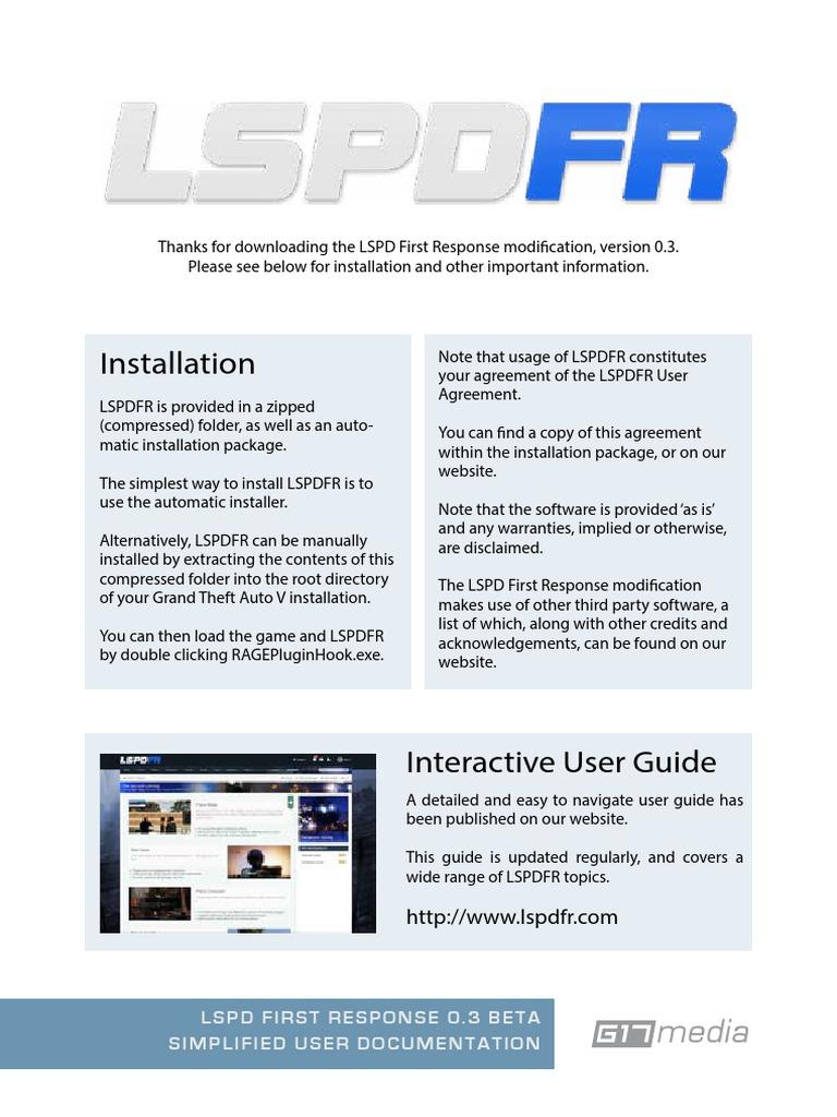LSPDFR User Documentation