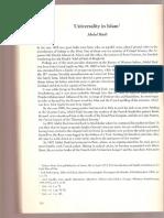 Agueli's Universality in Islam